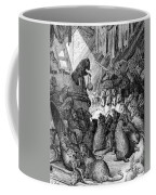 The Council Held By The Rats Coffee Mug by Gustave Dore