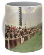 The Course At Longchamps Coffee Mug by Jean Beraud