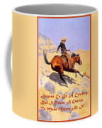 The Cowboy With Quote Coffee Mug