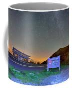 The Craggy Pinnacle Visitors Center At Night Coffee Mug
