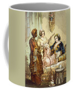 The Cup Of Coffee Two Women Taking Coffee Mug by Amadeo Preziosi