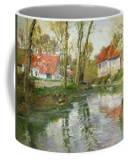 The Dairy At Quimperle Coffee Mug by Fritz Thaulow
