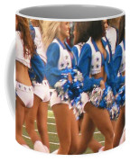 The Dallas Cowboys Cheerleaders Coffee Mug by Donna Wilson