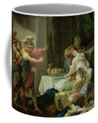 The Death Of Cleopatra, 1755 Oil On Canvas Coffee Mug