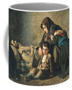 The Death Of The Pauper Oil On Canvas Coffee Mug
