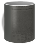 The Declaration Of Independence In Charcoal Coffee Mug