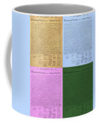 The Declaration Of Independence In Colors Coffee Mug by Rob Hans