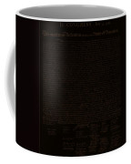 The Declaration Of Independence In Negative Brown Coffee Mug