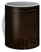 The Declaration Of Independence In Negative Orange Coffee Mug