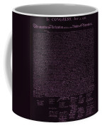The Declaration Of Independence In Negative Pink Coffee Mug