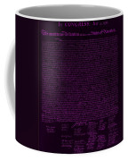 The Declaration Of Independence In Negative Purple Coffee Mug