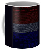 The Declaration Of Independence In Negative R W B 1 Coffee Mug