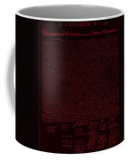 The Declaration Of Independence In Negative Red Coffee Mug