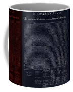 The Declaration Of Independence In Negative Red White And Blue Coffee Mug