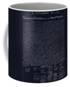 The Declaration Of Independence In Negative  Coffee Mug