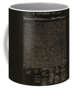 The Declaration Of Independence In Negative Sepia Coffee Mug by Rob Hans