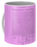 The Declaration Of Independence In Pink Coffee Mug