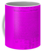 The Declaration Of Independence In Purple Coffee Mug by Rob Hans