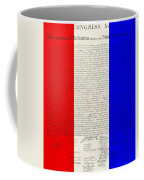 The Declaration Of Independence In Red White Blue Coffee Mug by Rob Hans