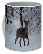 The Deer In The Snow Coffee Mug