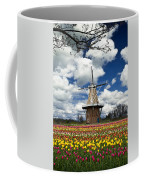 The Dezwaan Dutch Windmill Among The Tulips On Windmill Island In Holland Michigan Coffee Mug