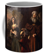 The Dismissal Of Hagar, 1650 Coffee Mug by Jan Victors