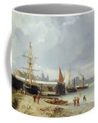 The Docks On The Bank At Greenwich  Coffee Mug