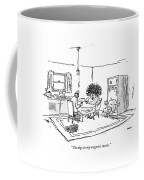 The Dog Ate My Magnetic Insoles Coffee Mug by George Booth