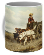 The Dog Cart Coffee Mug by Henriette Ronner-Knip