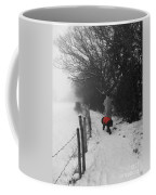 The Dog In The Red Coat Coffee Mug