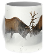 The Duel Of Fighting Elk Coffee Mug