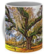 The Dueling Oak Painted Coffee Mug