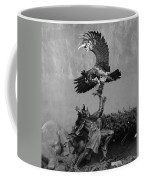 The Eagle And The Indian In Black And White Coffee Mug