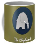 The Elephant Cute Portrait Coffee Mug