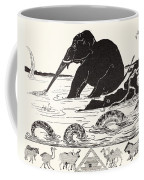 The Elephant's Child Having His Nose Pulled By The Crocodile Coffee Mug by Joseph Rudyard Kipling