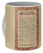 The Emancipation Proclamation Coffee Mug by American School