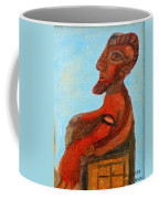 The Enthroned God Ares Coffee Mug by Augusta Stylianou