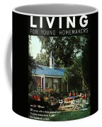 The Exterior Of A House And Patio Furniture Coffee Mug