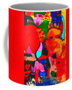 The Eyes Upon Us Painted Coffee Mug
