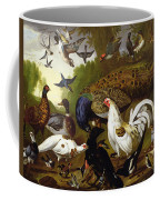 The Fable Of The Raven With A Peacock, Cockerel, Woodpecker, Jay, Woodcock, And Magpie Coffee Mug
