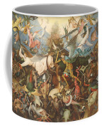 The Fall Of The Rebel Angels, 1562 Oil On Panel Coffee Mug