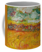 The Farmland Oil On Canvas Coffee Mug