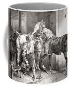 The Farrier, From Etudes De Cheveaux Coffee Mug