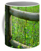 The Fence At The Meadow Coffee Mug