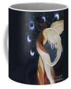 The Final Eclipse Before The Millenium Hand Embroidery  Coffee Mug