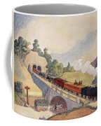 The First Paris To Rouen Railway, Copy Coffee Mug by French School