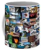 The Fishing Hole Collage Rectangle Coffee Mug