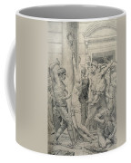 The Flagellation Of Christ Coffee Mug by William Adolphe Bouguereau