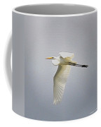 The Flight Of The Great Egret With The Stained Glass Look Coffee Mug