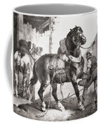 The Forge, From Etudes De Cheveaux, 1822 Coffee Mug